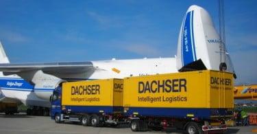 Dachser freta maior avião de carga para transporte de 95 toneladas