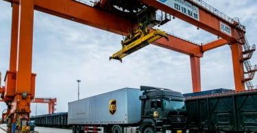 UPS tem novo serviço ferroviário China-Europa