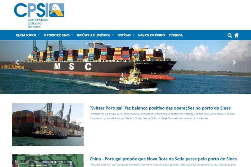 Comunidade Portuária de Sines lança site para partilhar atualidade do setor