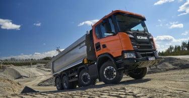 Scania apresenta camiões para o setor da construção