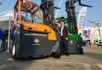 Fabricante irlandesa de empilhadores lança novo empilhador elétrico multidirecional