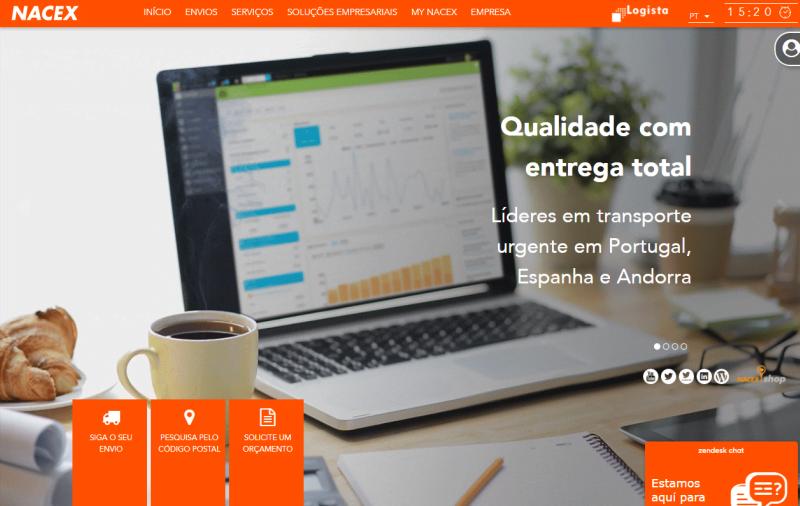 Nacex tem novo site em Portugal