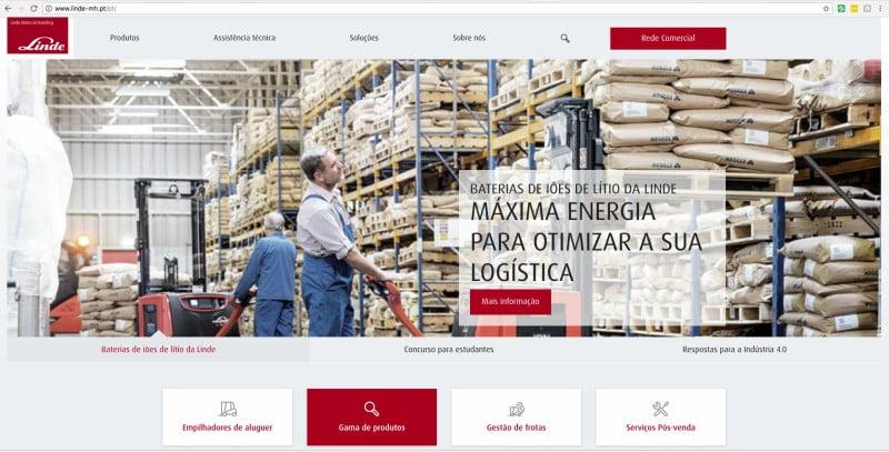 Linde Material Handling Ibérica tem novo site corporativo