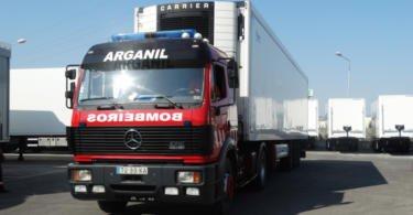 Reta doa semirreboques aos Bombeiros Voluntários de Arganil