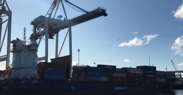 Samskip Estrela faz primeira escala no porto de Leixões