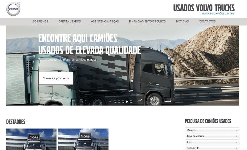 Auto Sueco lança novo site 'Usados Volvo Trucks'