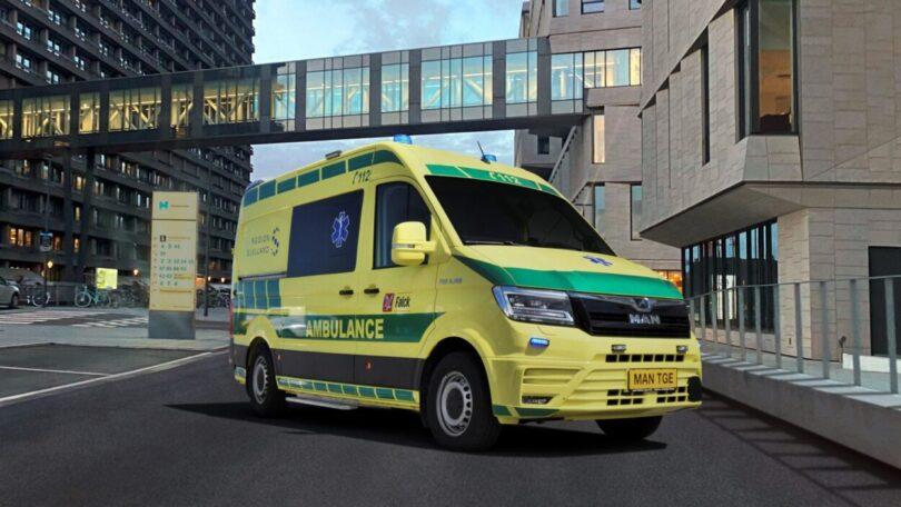 MAN assina acordo de venda de carrinhas para ambulância com Falck Danmark