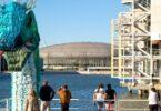 DPD recolhe 12 toneladas de garrafas descartáveis usadas para criar instalação artística