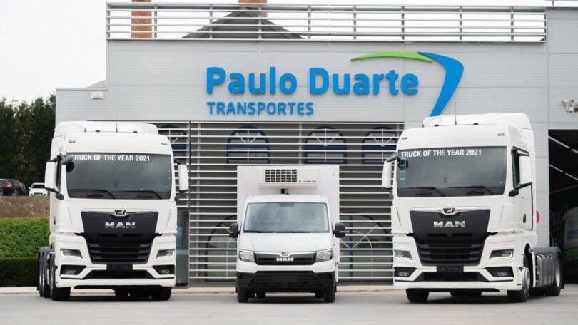 A Paulo Duarte Transportes, no ano em que faz 75 anos, aumentou a sua frota, com 160 camiões da Nova Geração MAN e 10 unidades MAN TGE.