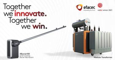 A Efacec foi distinguida com dois prémios na categoria Product Design 2021 do Red Dot Design Award, a competição de design.