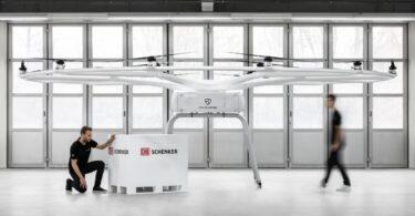 A Volocopter e a DB Schenker anunciaram a criação do 1ºprojeto para operações terrestres de cargas elétricas em logística com o VoloDrone.