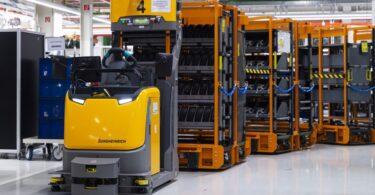 A Jungheinrich foi escolhida para automatizar o abastecimento de materiais para a produção de motores da Audi, em Györ, na Hungria.