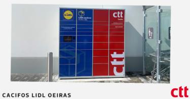 Os CTT – Correios de Portugal instalaram, em parceria com o Lidl, um Cacifo CTT 24H na nova loja do Lidl Portugal da área de serviço da A5.