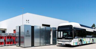 """PRF Gas Solutions lançou oficialmente o seu posto portátil de abastecimento de hidrogénio a veículos """"pioneiro em Portugal"""", o DRHYVE."""